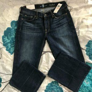 NWT 7 for All Mankind 28 Petite Bootcut Jeans